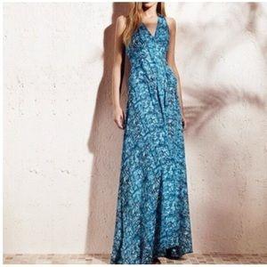 Derek Lam Design Nation Abstract Print Maxi Dress